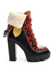 Boots - Chunky Platform Lace Up Heeled Boots-2694929
