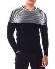 Men - Optical Rib Ls Knit-2696420