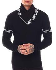 Men - Greek Key Shawl Collar Ls Knit-2696546