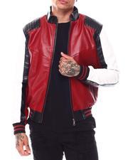 Leather Jackets - 90s Moto Colrblock PU Jacket-2695329