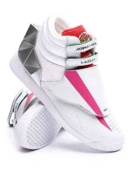 Reebok - Reebok x Power Rangers Freestyle Hi Pink Ranger Sneakers