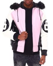 Going-Out-Outfits - 8 Ball Color Block PU Jacket-2695310