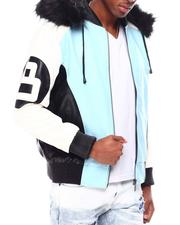 Going-Out-Outfits - 8 Ball Color Block PU Jacket-2695559