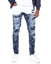 Copper Rivet - Paisley discharging print with Bleached Jean-2696728