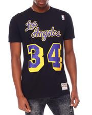 Mitchell & Ness - LOS ANGELES LAKERS Reload Name & Number Tee - Shaquille O'Neal-2697376
