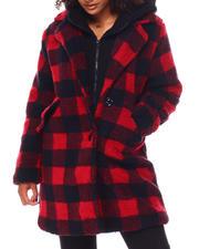Steve Madden - Sherpa Coat W/Fleece Bib-2696289