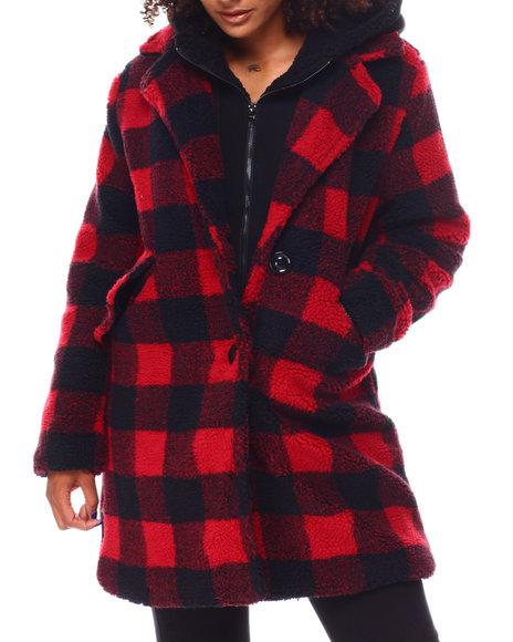 Steve Madden - Sherpa Coat W/Fleece Bib