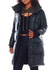 Heavy Coats - NVLT 36' Faux Leather Puffer Jacket-2696395
