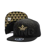 Snapback - King Gold Crown Snapback Hat-2697447
