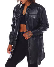 Going-Out-Outfits - NVLT Faux Leather  Shacket-2696366
