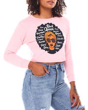 Tees - Crop Black Queen L/S  T-Shirt-2696241