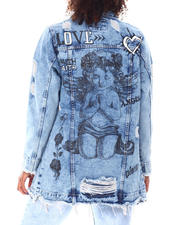Outerwear - Over Sized Denim Shirt  Baby Angel Ripped-2696294