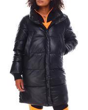 Heavy Coats - NVLT 36' Faux Leather Puffer Jacket-2696390
