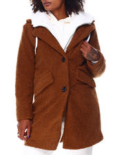 Steve Madden - Sherpa Coat W/Fleece Bib-2696316