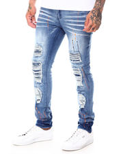 Jeans - Splatter Paint Distressed Jean w Drawstring-2697887