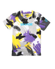 SASCO - Abstract All Over Print Tee W/ Verbiage (8-18)-2697920
