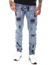 Jeans - Ripped Jean w Rhinestone Patches-2699048