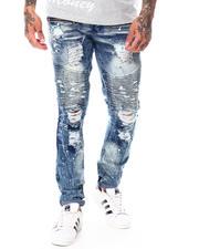 Jeans & Pants - Distressed Ripped Splatter Moto Jean-2699065
