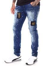Jeans & Pants - Distressed Jean w Punk Patches-2699160
