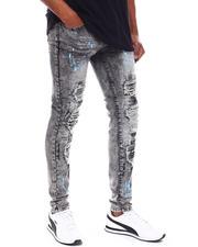 Jeans & Pants - Splatter Paint Distressed Jean w Drawstring-2698578