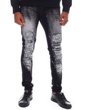 Jeans & Pants - Splatter Paint Distressed Jean w Drawstring-2698586