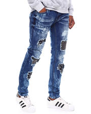 SWITCH - RIPPED DENIM PANTS WITH BRUSH BLEACH-2698880