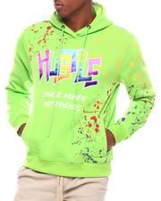Hoodies - Hustle GRADIENT PATCHED HOODY WITH SPLATTER-2701057