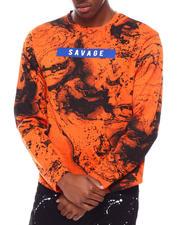 Long-Sleeve - LS AOP SAvage Ink Marble Tee-2701067