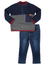 7 for All Mankind - 2 Pc Fleece Pullover & Jeans Set (2T-4T)-2696232