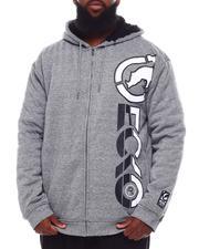 Hoodies - Printed Heavy Jersey / Lined Sherpa Hoodie (B&T)-2702109