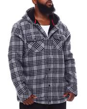 Light Jackets - Plaid Sherpa Jacket (B&T)-2702127