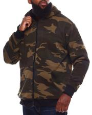 Light Jackets - Camo Sherpa Lined Zip Up Hoodie (B&T)-2701907