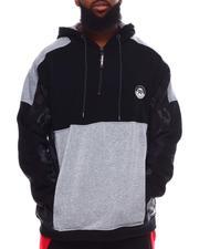 Akademiks - Color Block Quarter Zip Hoodie (B&T)-2702027