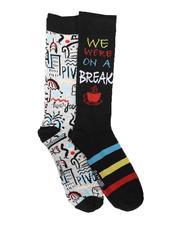 DRJ SOCK SHOP - 2Pk We Were On A Break Socks-2702282