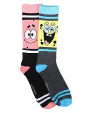 DRJ SOCK SHOP - 2Pk SpongeBob Patrick Socks-2702284