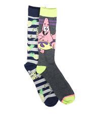 DRJ SOCK SHOP - 2Pk Patrick Spongebob Socks-2702285