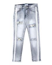 Arcade Styles - Painted Stripe Snake Skin Underlay Jeans (8-18)-2700346