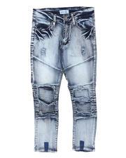 Arcade Styles - Cut & Sew Moto Underlay Jeans (8-18)-2700361