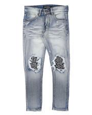 Arcade Styles - Bandana Print Backing Baked Jeans (8-18)-2700377