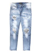 Arcade Styles - Rip & Repair Newspaper Underlay Jeans (8-18)-2700384
