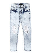 Arcade Styles - Newspaper Print Backing Baked Jeans (8-18)-2700400