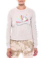 Tees - Blessed Rainbow LS Crew-2699443