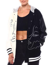 Women - Two Face color Block Jacket-2702937