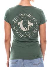 Tees - Crystal Foil Logo Slim V Neck-2702957