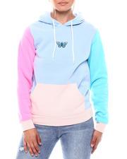 Hoodies - Color Block Butterfly Emb Hood-2699525