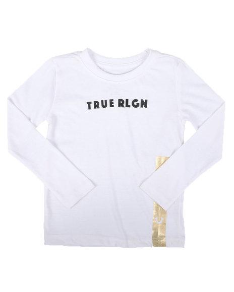 True Religion - Long Sleeve HS Foil Tee (4-7)