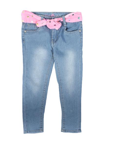 Delia's Girl - Stretch Jeans W/ Sash Belt (4-6X)