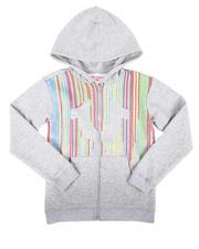 Hoodies - Raining Paint Zip Up Hoodie (8-20)-2700478