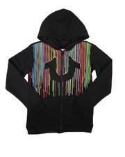 Hoodies - Raining Paint Zip Up Hoodie (8-20)-2700525