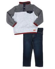 Sizes 2T-4T - Toddler - 2 Pc Fleece Pullover & Jeans Set (2T-4T)-2702312